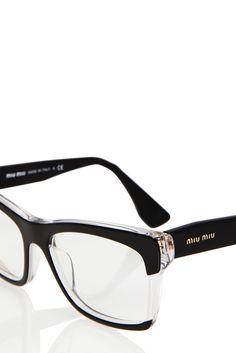 61 popular eyecandy images eye glasses, eyeglasses, eyewearsquare optical glasses miu miu clear black