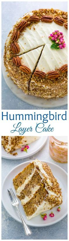 YUM!!! This is the BEST recipe for Southern Hummingbird Cake! Moist, luscious, and loaded with banana pineapple flavor.