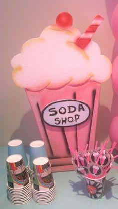 Soda Shop party decor