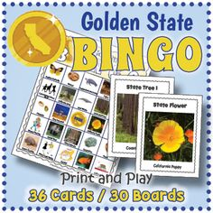 California State Symbols Activities - California BINGO and Memory Game