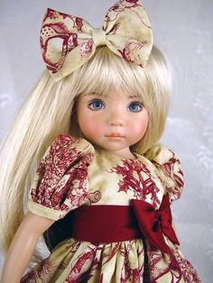 Effner 13, Little Darling Dress. Christmas Toile by Little Charmers Doll Designs