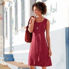 Linnen jurk, kersen