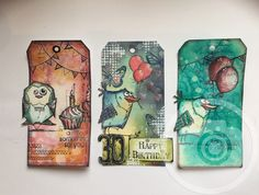 Tags crazy bird Tim holtz by Anja Waage
