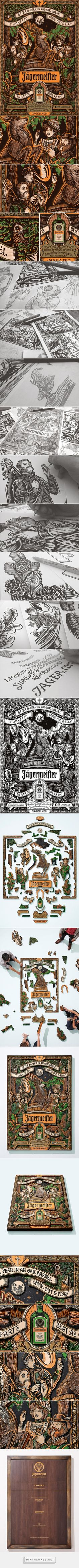 Jägermeister - 56 Parts - Best as One on Behance... - a grouped images picture - Pin Them All