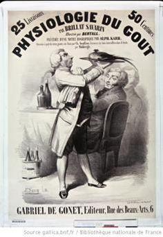 Affiche Physiologie du goût par Brillat-Savarin illustrée par Bertall