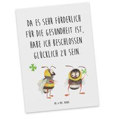 Postkarte Hummeln mit Kleeblatt aus Karton 300 Gramm