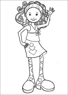 Groovy Girls Waving Coloring Page