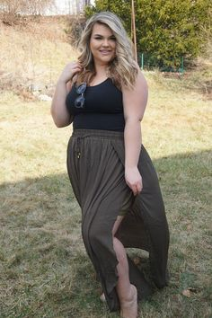 Plus Size Clothing for Women - Layered Chiffon Maxi Skirt for Learning To Be Fearless (Sizes 12 - 20) - Society+ - Society Plus - Buy Online Now!