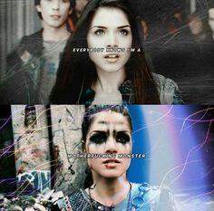 Octavia Blake in season 1 and 4