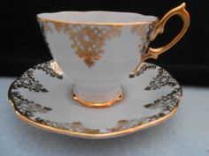 Beautiful Light Blue and Heavy Gold Royal Albert Tea Cup Saucer