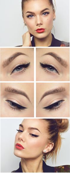Todays look Classic wing eyeliner