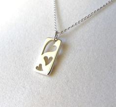 Three Heart Necklace in Sterling Silver by lunaCielo on Etsy, $26.00