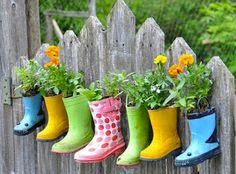 Plant pots are so mainstream. Add some personality to even the smallest outside space by raiding charity shops for kids' wellies instead.  #students #freshers #interiors