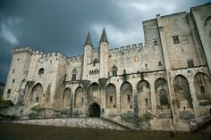 The famed Palais du Papes (Palace of the Popes), Avignon, France. Visit France, Northern Italy, Architecture Old, Oui Oui, South Pacific, France Travel, Paris France, Barcelona Cathedral, Travel Inspiration