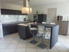 ilot central table escamotable | Cuisine | Pinterest | Extension ...
