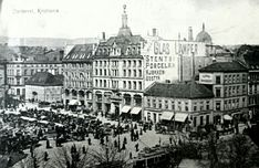 Egertorget, Old Oslo,Norway. Oslo was formerly known as Christiana, or Kristiana,until when the name was changed. Kingdom Of Sweden, Trondheim, School Photos, Old Postcards, Rotterdam, Picture Photo, Paris Skyline, Norway Oslo, The Past