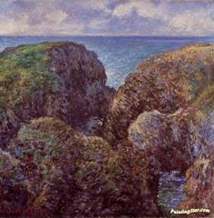 Group of Rocks at Port-Goulphar Artwork by Claude Oscar Monet