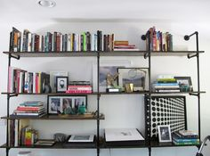DIY Pipe Shelving | 20 Home Libraries