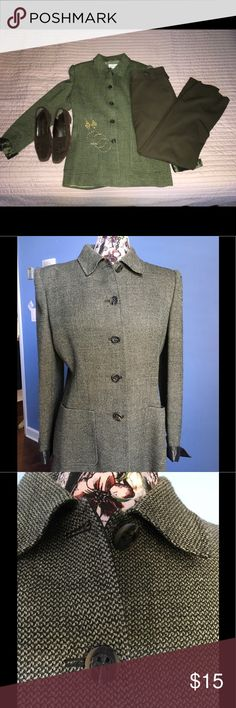 Valentino Jacket Valentino Miss V Suit Jacket.  Olive green color (looks gray in photos).  Made in Italy. Size 46/12.  Fits like a 10.  Fully lined.  You will love this jacket!  True color is in photos 1 and 5. Valentino Jackets & Coats Blazers
