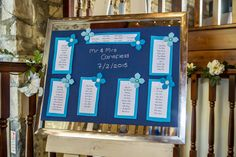 Maybe you're looking for something nice, but simple? Then this seating plan is just for you.