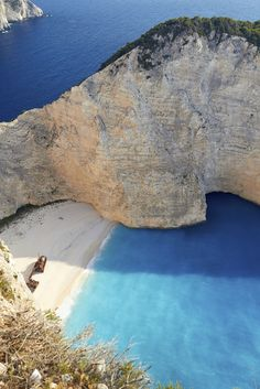 Discover the shipwreck at the secluded Smuggler's Cove, Zakynthos.