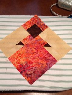 African Queen block drafted and 1st one complete More