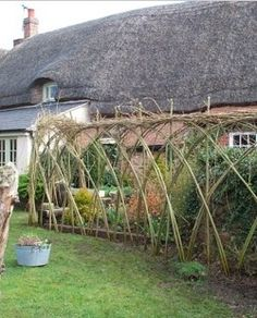 Essential guide to garden fencing  Choose the perfect fence for your garden.   Country-style willow