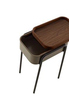Tavolino / comodino in legno COULISS by ROSET ITALIA design Philippine Lemaire