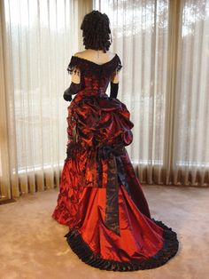 Love this, but in that time period red dresses were only worn by hookers. Just saying.