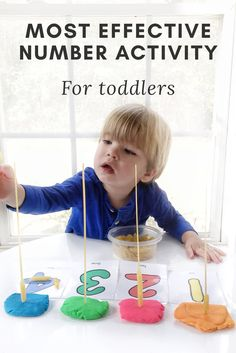 Most Effective Number Activity for Toddlers. Easy and Simple Number Activity for Toddlers
