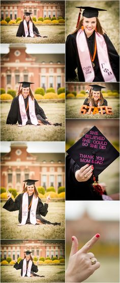 Stillwater Oklahoma Oklahoma State University Senior Portrait Photographer | Greek Life Senior Portraits | College Seniors | Cap and Gown