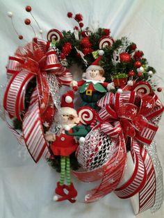 Elf Christmas wreath.