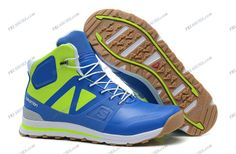 Salomon Outban MID Blue Green Men's Trail Running Shoes discount shoes Regular Price: $163.40 Special Price $89.69 Free Shipping with DHL or EMS(about 5-9 days to be your door).  Buy Shoes Get Socks Free.