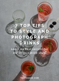 Using complimentary colors is just one way to make your drinks photography stand out. Click to learn my seven tips for better drink styling for better food photography photos! #foodblogger #foodblog #foodphotography #foodstyling