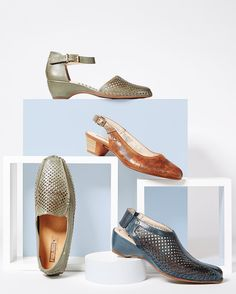 Feast your eyes on these beauties from @pikolinos_shoes . . . . . #shoes #slides #loafers #perforatedshoes #trends #trendy #shopping #style #instashoes #spain #photoshoot #anklestrap #brookline #boston #cute #sotd #whattowear