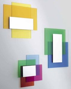 Color on Color mirrors by Johanna Grawunder. Available at SUITE New York.