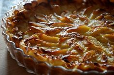 A Culinária e Eu ...: Tarte de maçã cremosa [sem massa base]