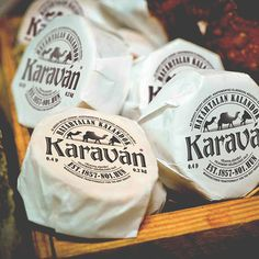 Logo, Branding, Packaging - Karavan cheese on Behance by Adam Boros. Karaván is the most famous cheese-brand in Hungary. PD