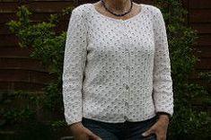 Ravelry: Martha (Eyelet or Beaded Cardigan) pattern by Stella Ackroyd