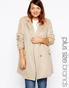 New Look Inspire Brushed Single Breasted Coat