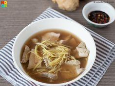 My mum's easy and fast recipe for Chinese-style pork liver soup.