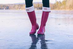"""Just a peek at a look worn while """"ice skating"""" in @Hunterboots"""
