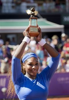 BASTAD, Sweden (AP) — Serena Williams won her WTA title by beating Johanna Larsson in the final of the Swedish Open on Sunday. Serena Williams Wins, Serena Williams Photos, Serena Williams Tennis, Ranger, Tennis News, Tennis Players Female, Billie Jean King, Tennis Stars, Sports Figures