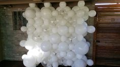Standard white and clear wall. 2x2m. www.balloons.com.au