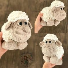 Likes, 60 Comments – Duygu Baykal ( - Amigurumi Ideas Cuddly sheep amigurumi crochet pattern by Kristi Tullus My mom loved sheep and she would love this one! Crochet Amigurumi - 225 Free Crochet Amigurumi Patterns - Page 4 of 4 - DIY & Crafts - Salvabra Baby Knitting Patterns, Crochet Patterns Amigurumi, Amigurumi Doll, Crochet Dolls, Crochet Sheep Free Pattern, Afghan Patterns, Baby Patterns, Cute Crochet, Crochet Crafts