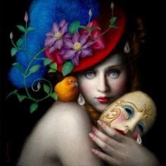 LA-based, Japanese-born artist Chie Yoshii creates beautiful paintings that explore the analogy between mythological tales and the human psychology.