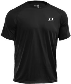UNDER ARMOUR Herren HeatGear Regular TECH Shortsleeve Tee Schwarz 001