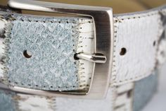 Belt in salmon and piton leather, manufactured in Milan, Italy #Branni1970 #Leather #MadeInItaly