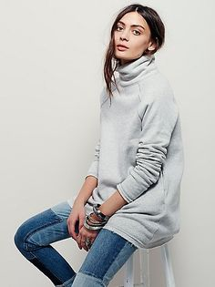 Bushwick Pullover | Super cozy and extremely soft pullover tunic featuring a turtleneck and hip pockets. Raw trim.