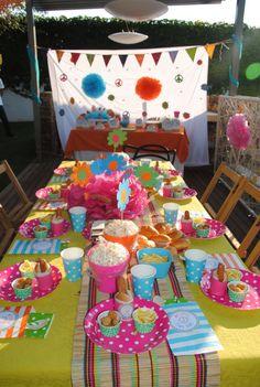 16th Lámina de fiesta de cumpleaños Decoración de mesa cascada piezas principales Colores Surtidos